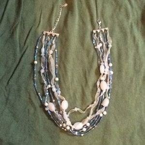 7 strand Monet necklace ribbon bead